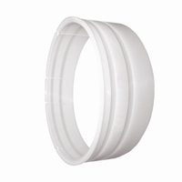 Montage ring slang luchtafvoer wit 127 mm